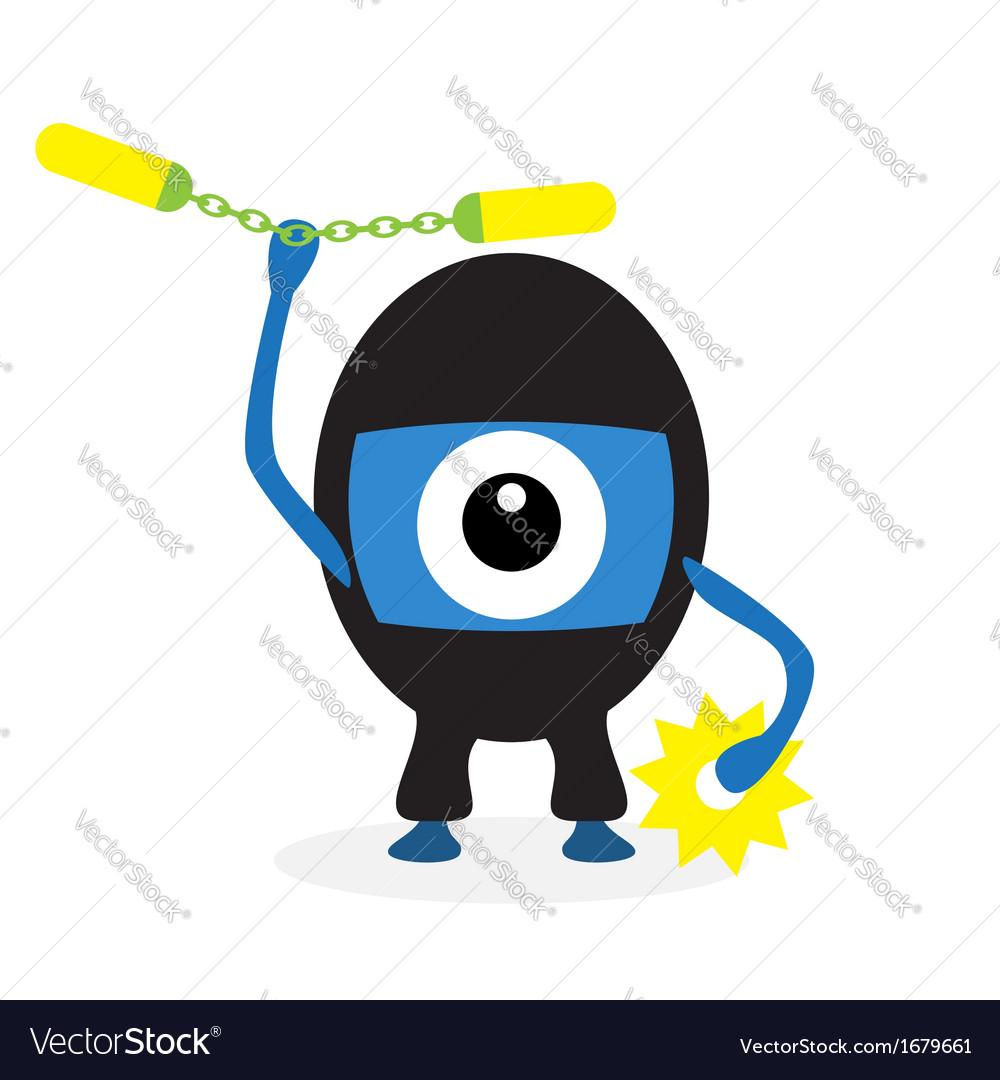 Cartoon ninja cyclops vector | Price: 1 Credit (USD $1)