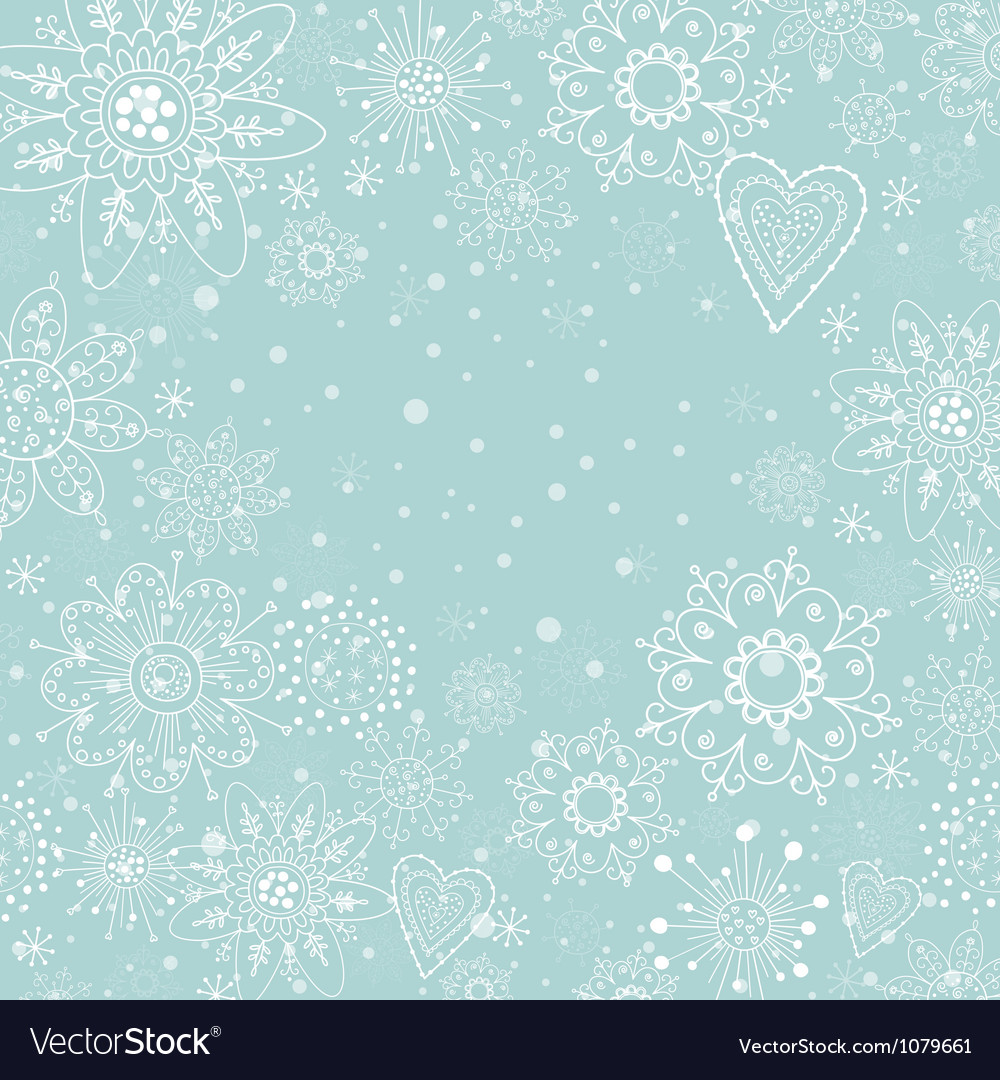 Christmas invitation card with white snowflake vector | Price: 1 Credit (USD $1)