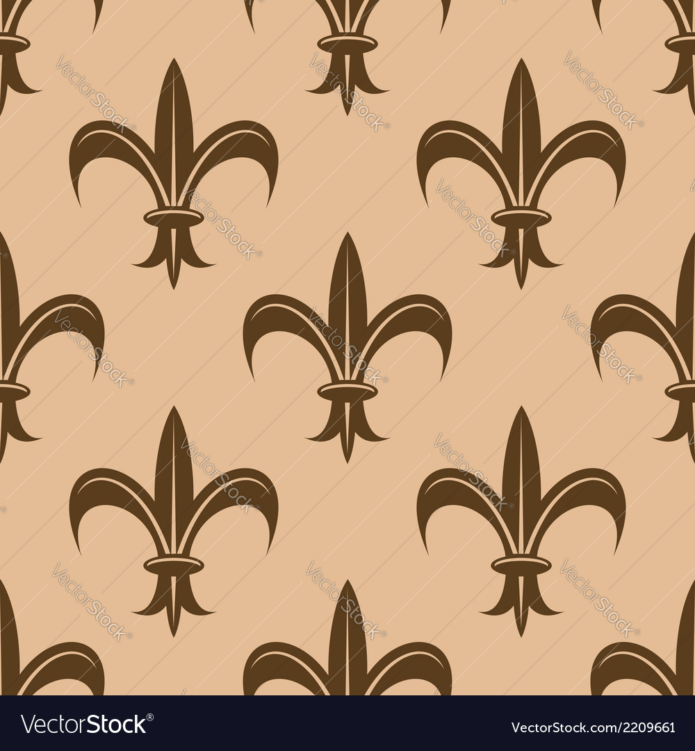 Fleur de lys seamless pattern vector | Price: 1 Credit (USD $1)
