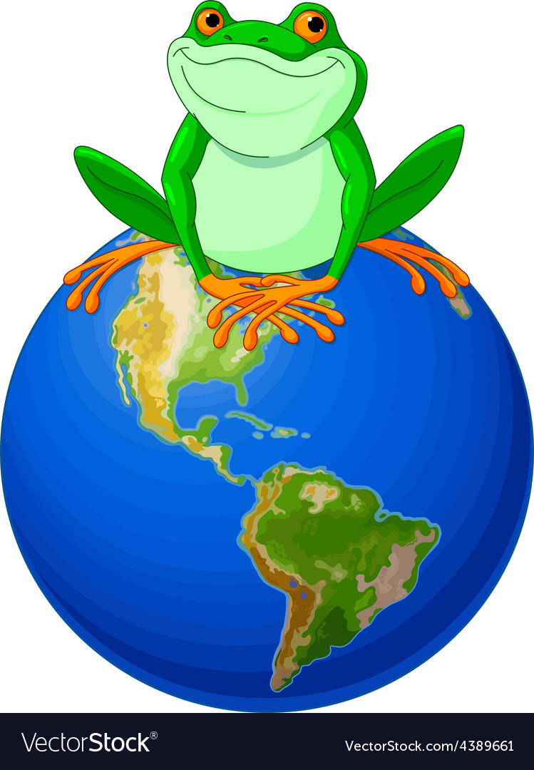 Frog earth day vector | Price: 3 Credit (USD $3)