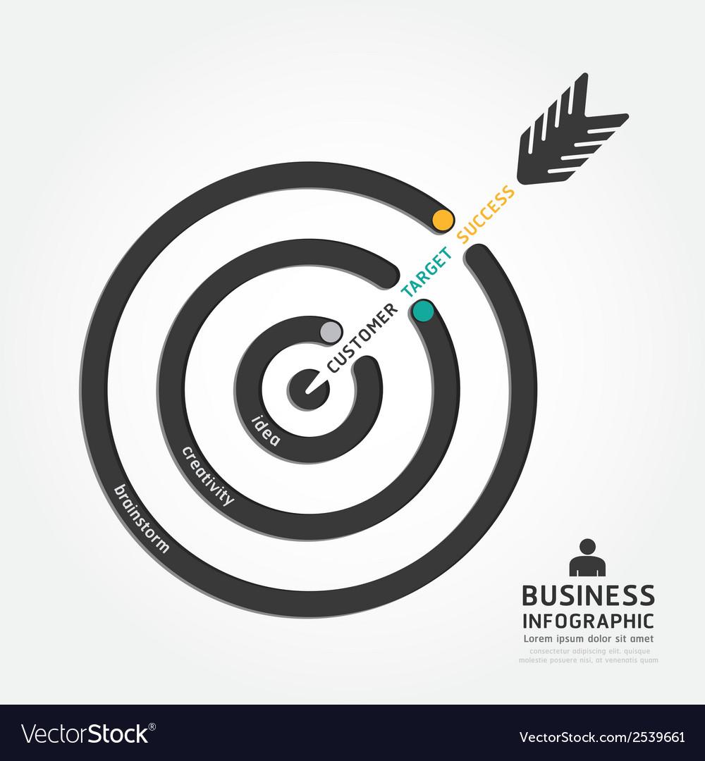 Infographics business arrow design customer target vector | Price: 1 Credit (USD $1)