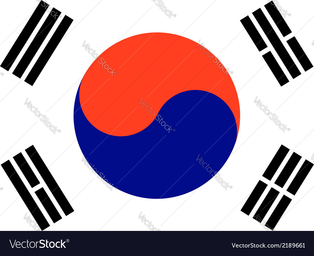 Korea south vector | Price: 1 Credit (USD $1)