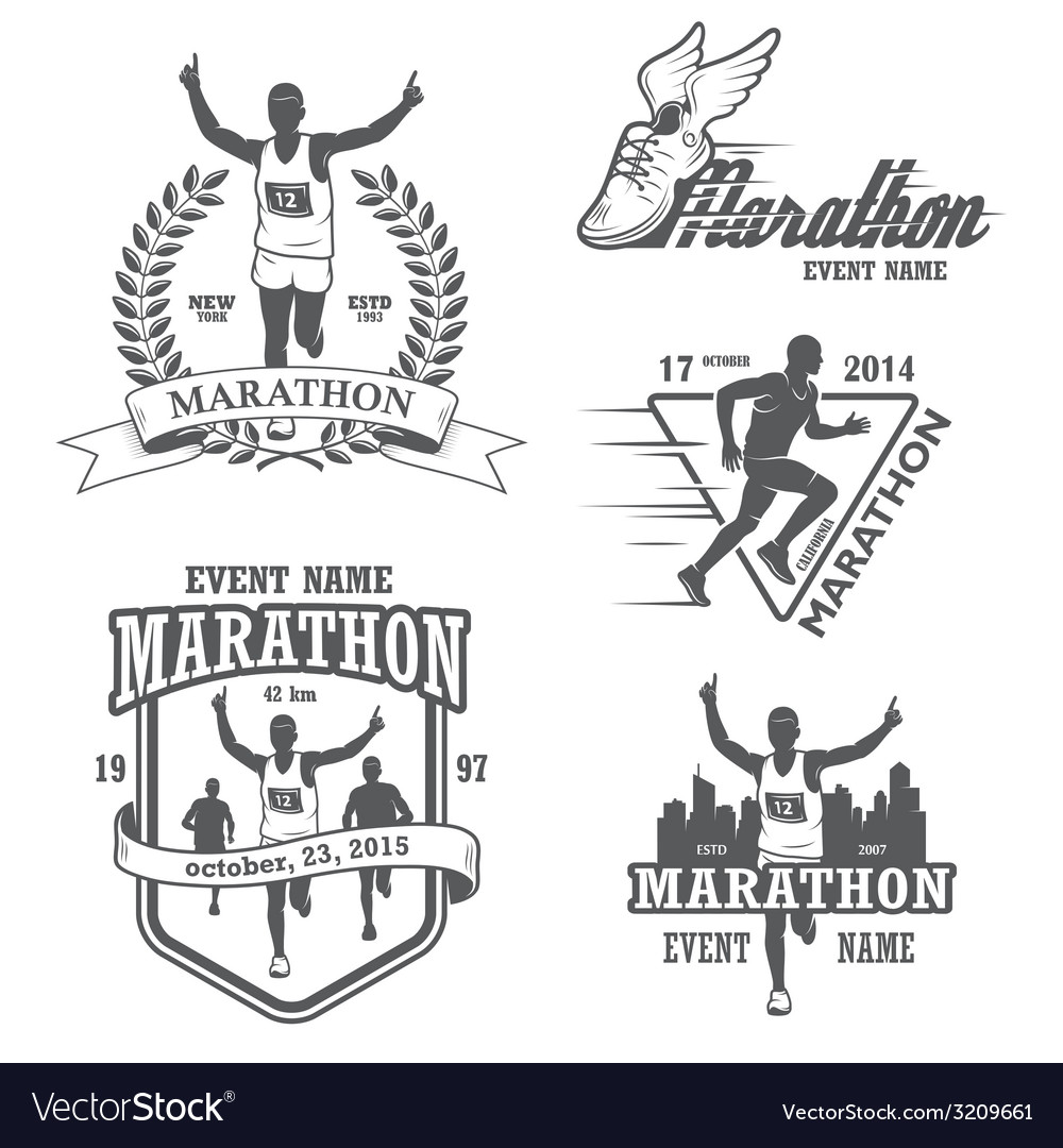 Marathon 1 vector | Price: 1 Credit (USD $1)