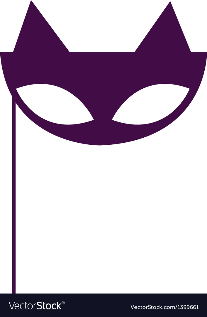 Masquerade cat mask vector
