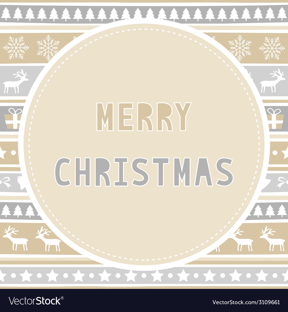 Merry christmas greeting card39 vector | Price: 1 Credit (USD $1)