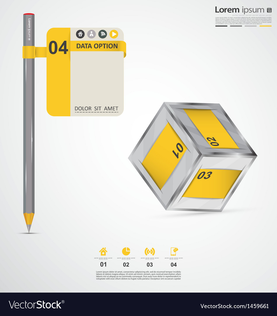 Modern infographic elements vector | Price: 1 Credit (USD $1)