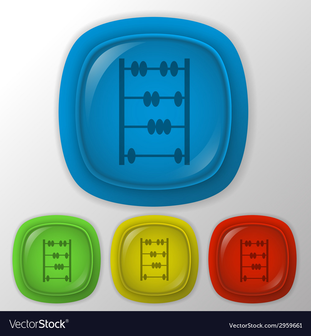 Old retro abacus icon vector | Price: 1 Credit (USD $1)