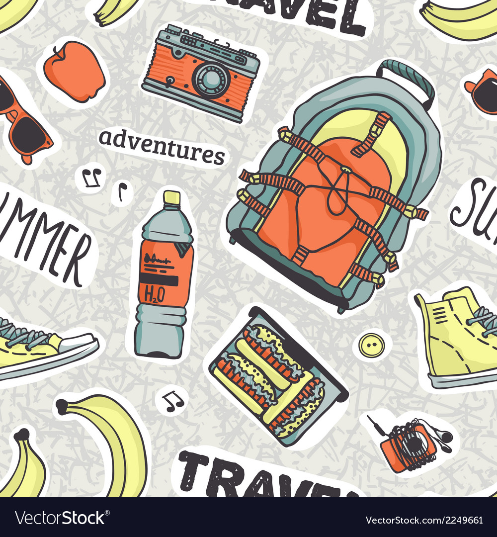 Pattern with words and stuff for your summer vector | Price: 1 Credit (USD $1)