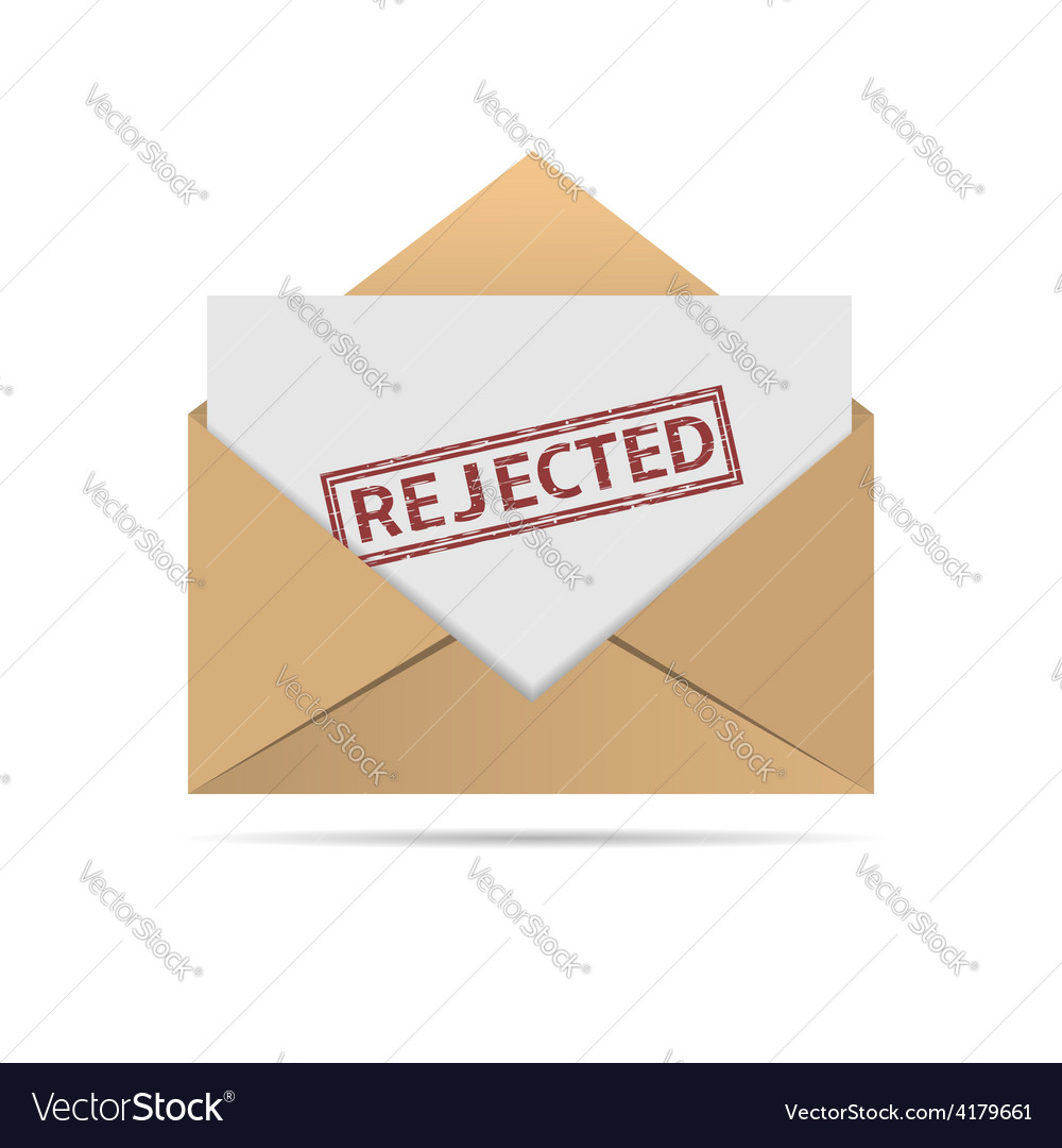 Rejected letter vector | Price: 1 Credit (USD $1)