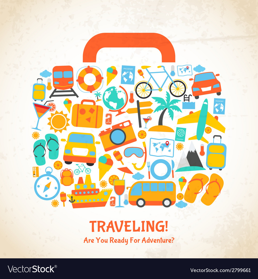 Travel suitcase concept vector | Price: 1 Credit (USD $1)