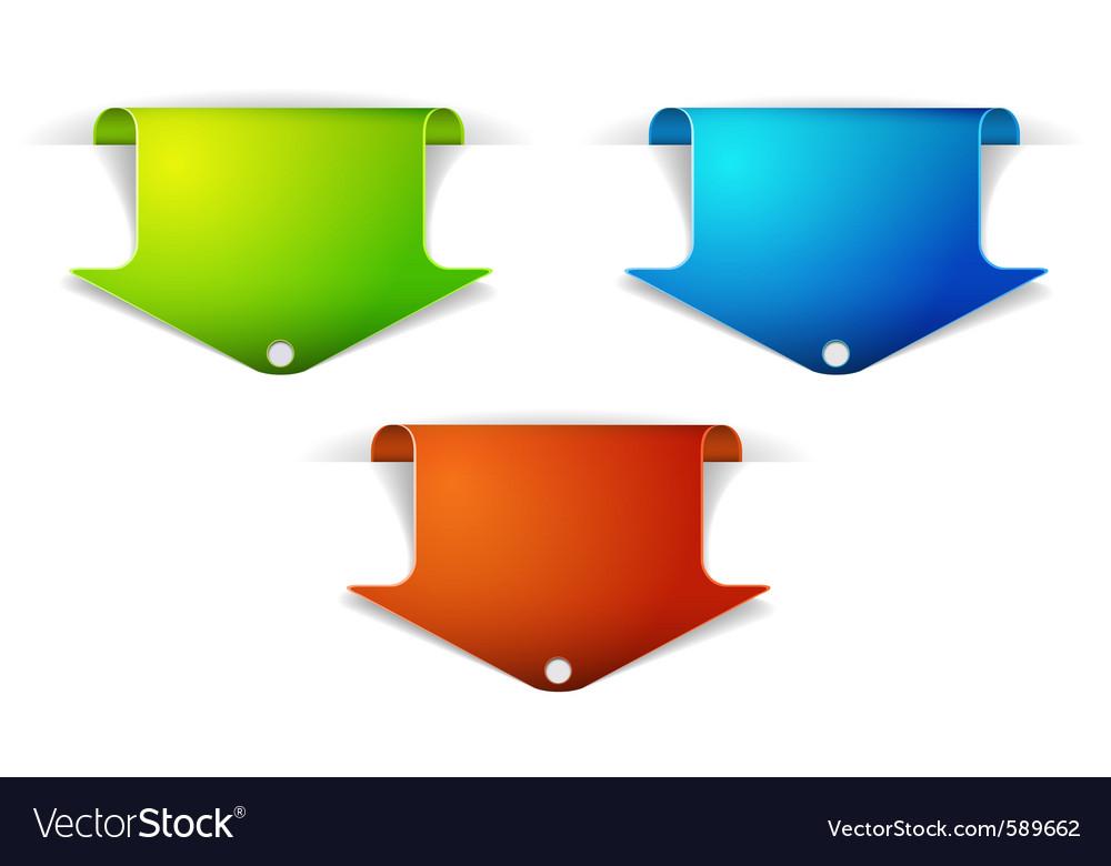 Arrow bookmarks vector | Price: 1 Credit (USD $1)