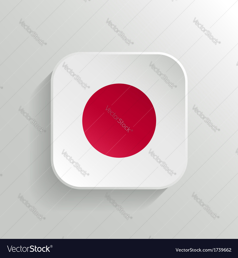 Button - japan flag icon vector | Price: 1 Credit (USD $1)