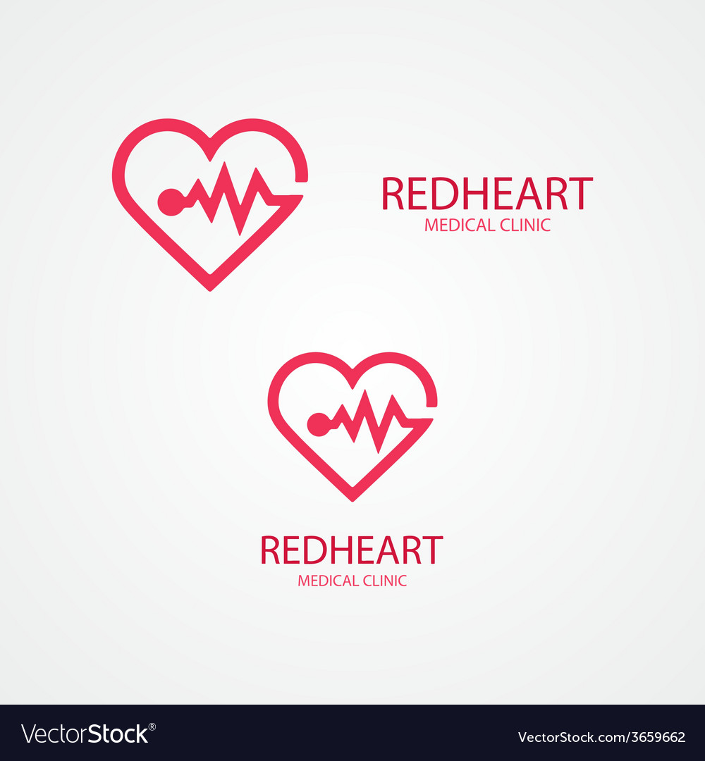Combination of heart and pulse logo vector | Price: 1 Credit (USD $1)