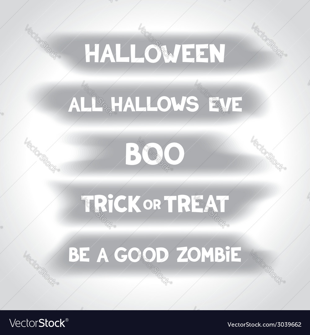 Halloween labels on blurry spots vector | Price: 1 Credit (USD $1)