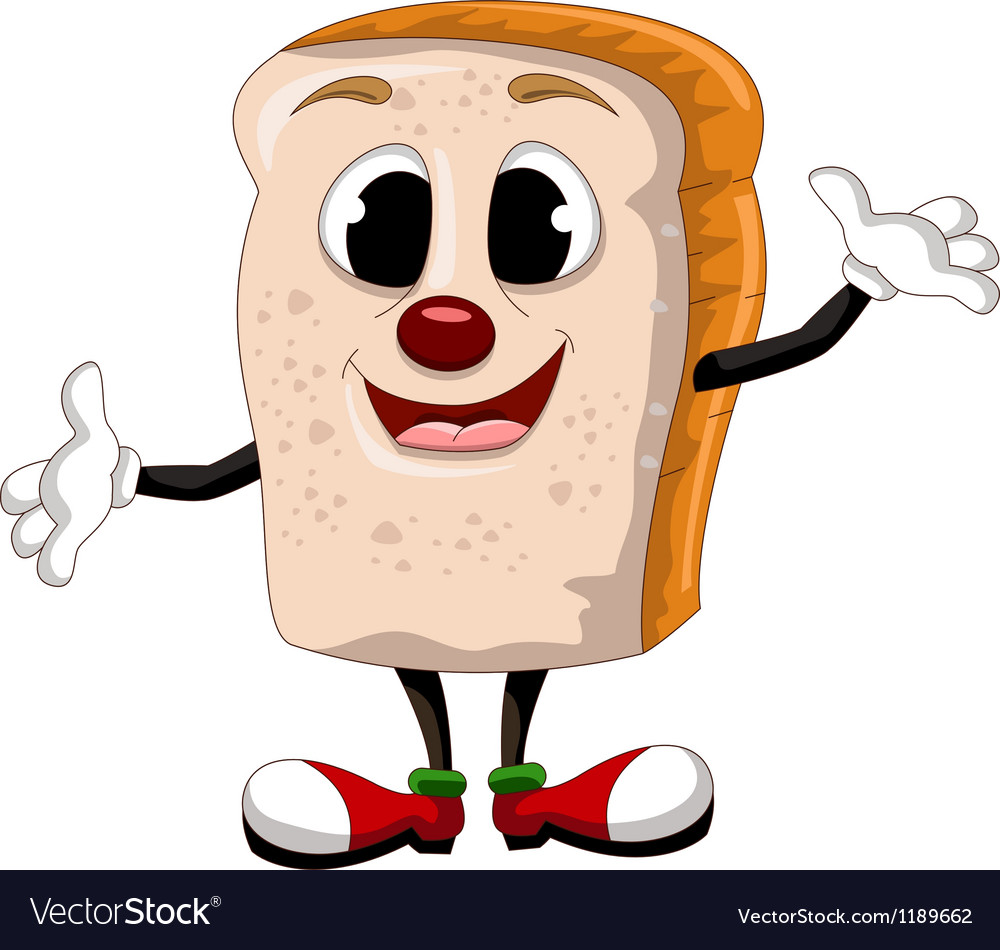 Happy bread cartoon vector | Price: 1 Credit (USD $1)