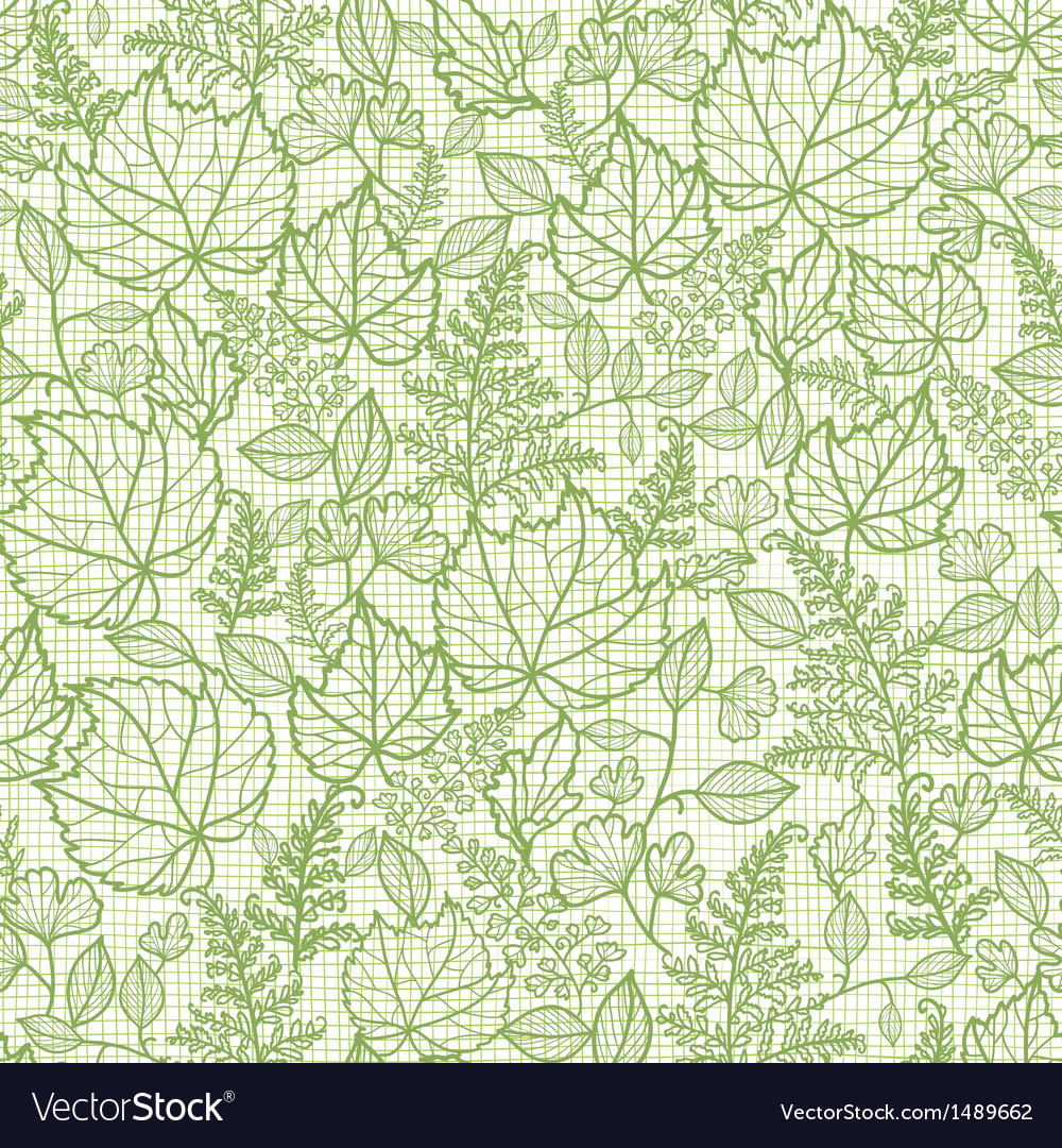 Lacey leaves lineart texture seamless pattern vector | Price: 1 Credit (USD $1)