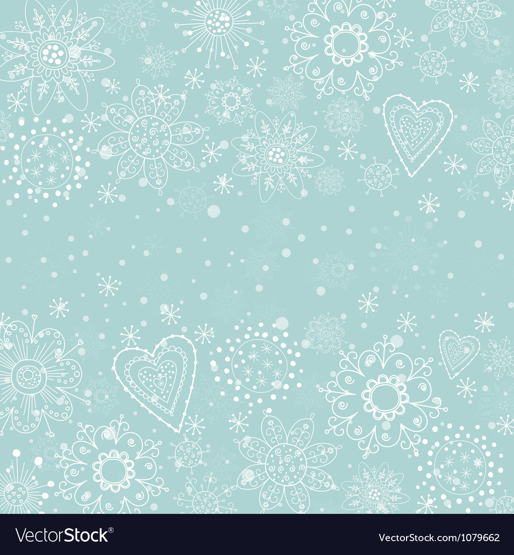 Light blue cristmas background with snowflake vector | Price: 1 Credit (USD $1)