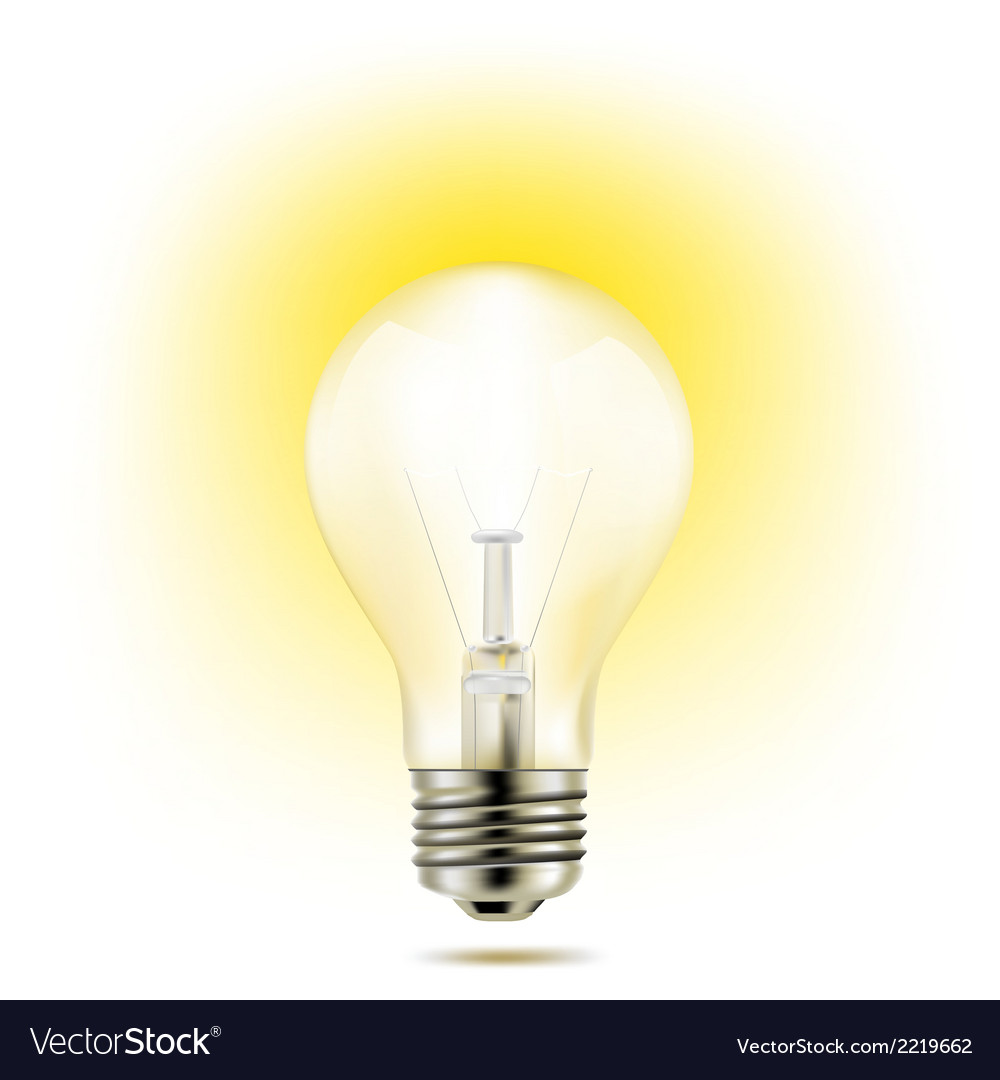 Light bulb yellow vector | Price: 1 Credit (USD $1)