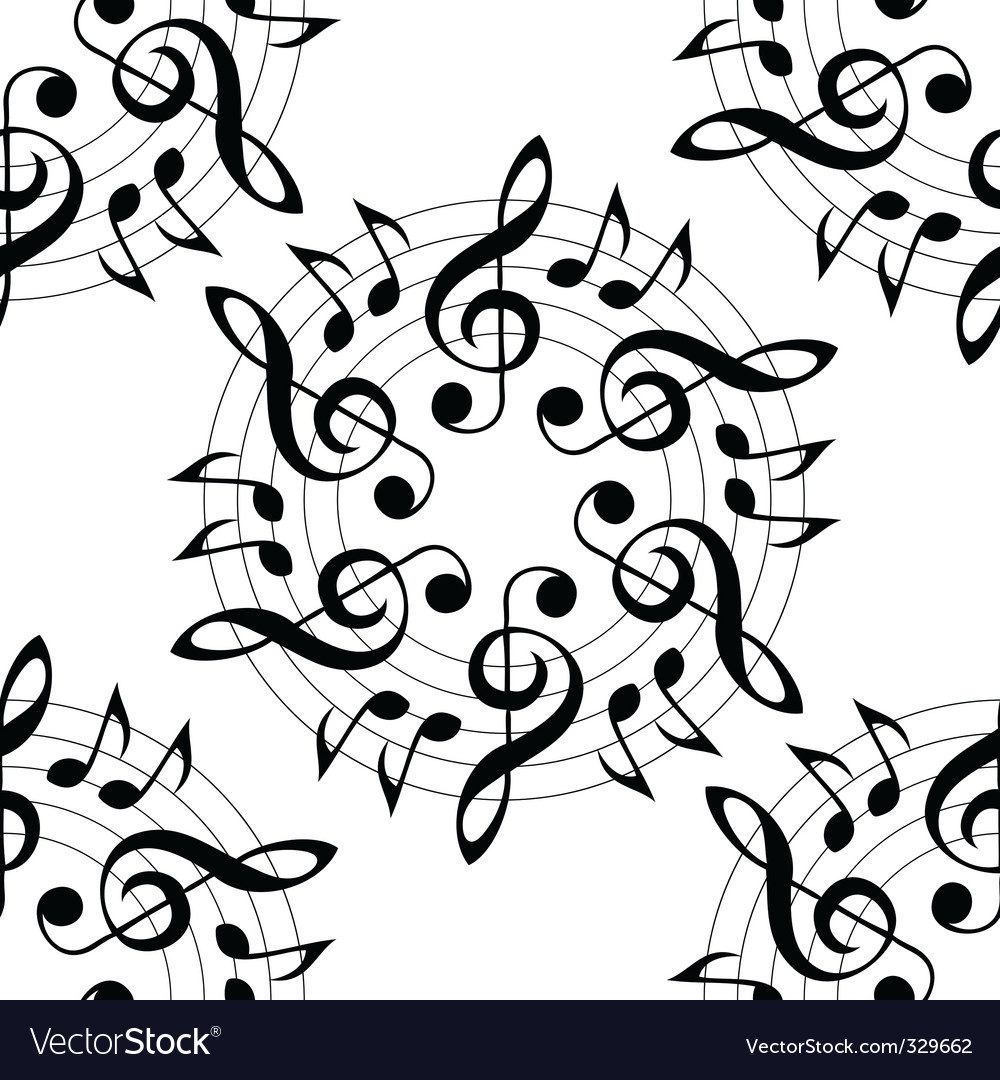 musical pattern vector | Price: 1 Credit (USD $1)