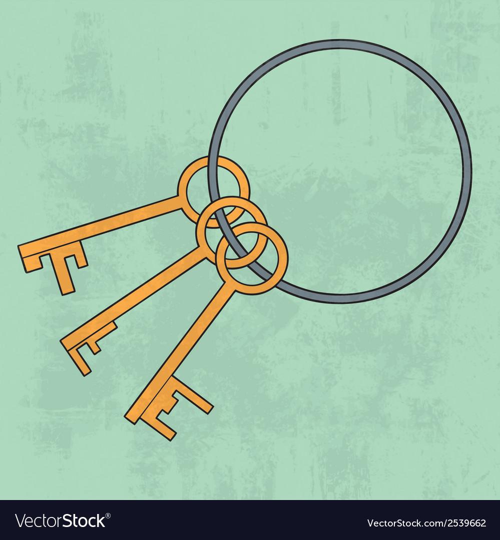 Old keys bunch icon vector   Price: 1 Credit (USD $1)