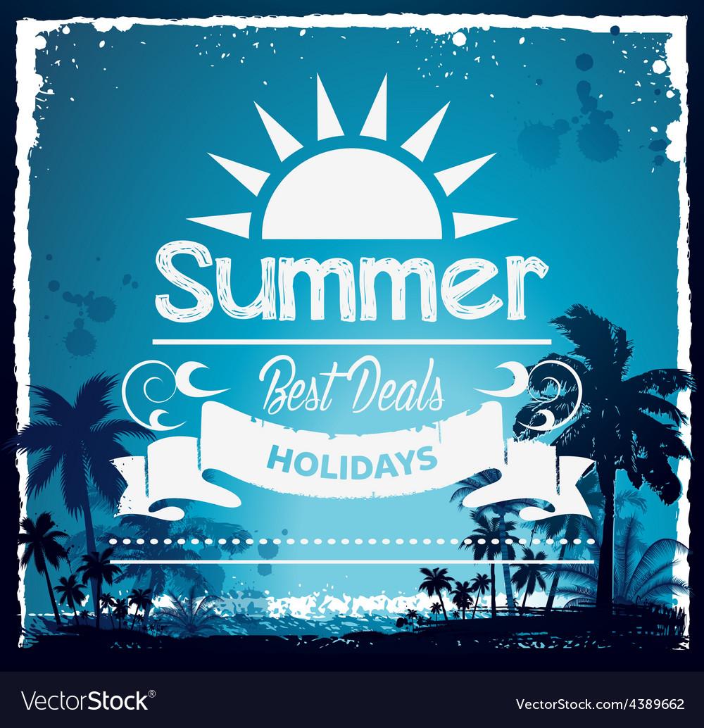 Summer beach hawaii background vector | Price: 1 Credit (USD $1)