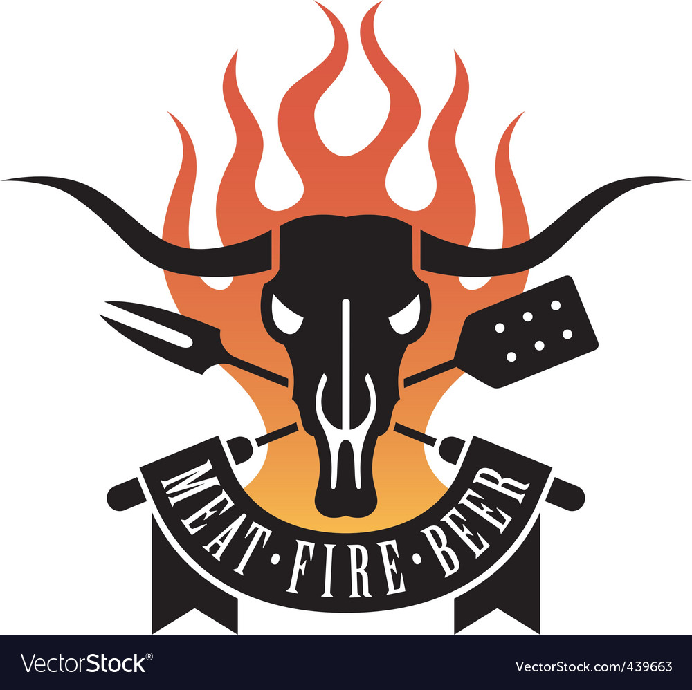 Barbeque logo vector | Price: 1 Credit (USD $1)