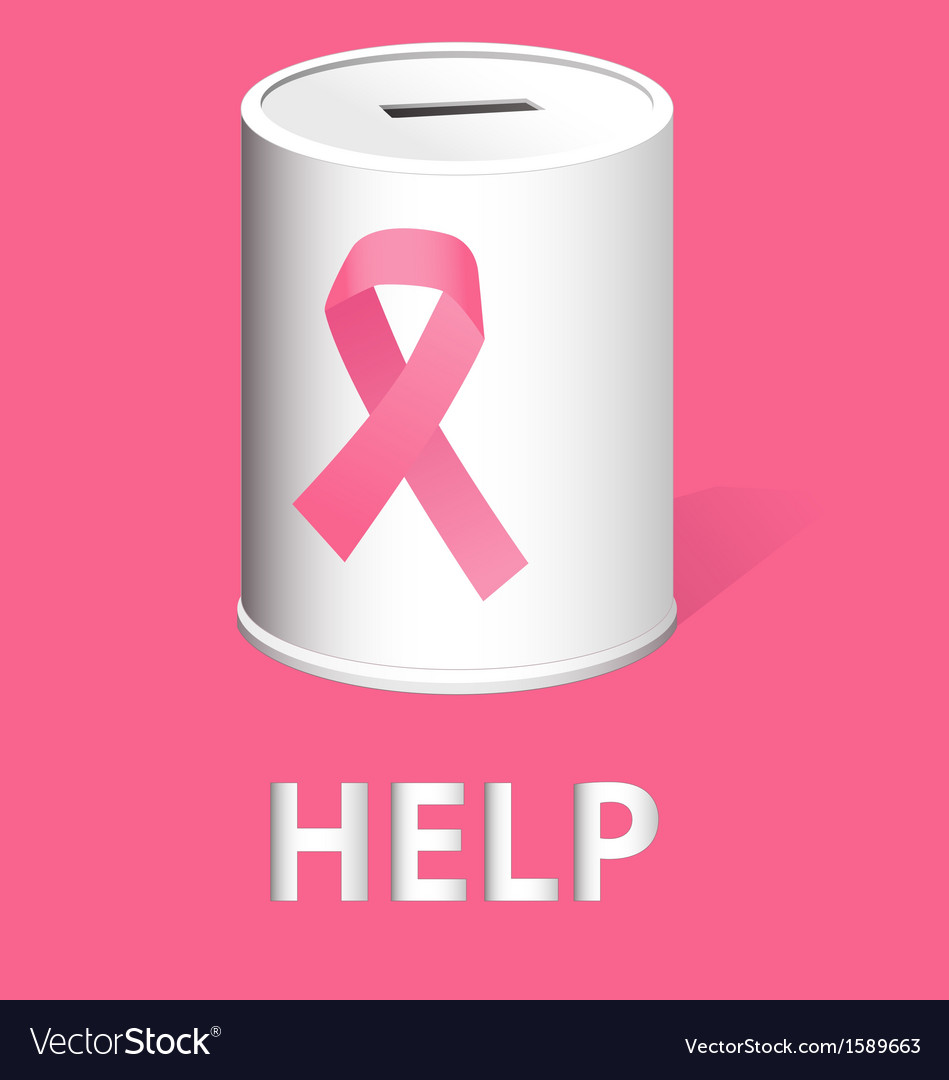 Donate for breast cancer research and prevention vector | Price: 1 Credit (USD $1)