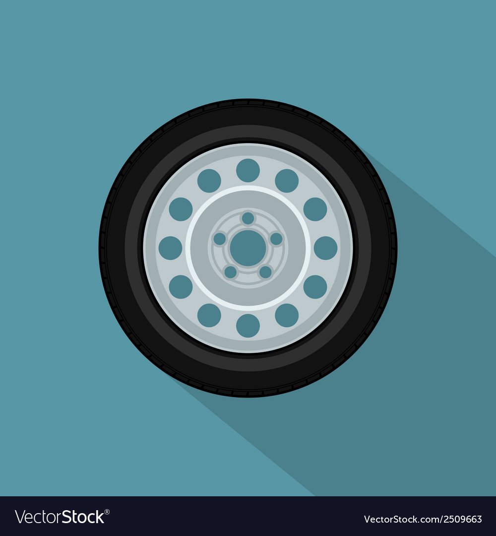 Flat wheel 2 vector | Price: 1 Credit (USD $1)