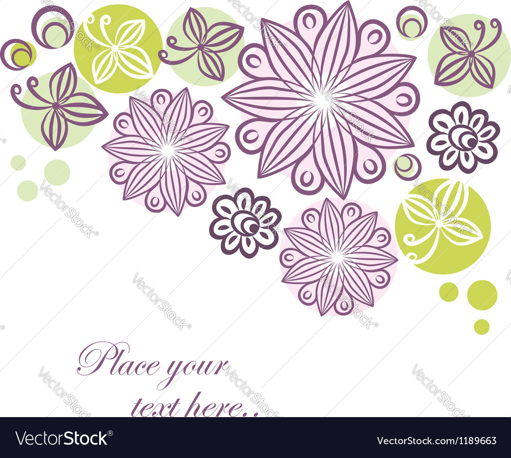 Floral retro banner vector | Price: 1 Credit (USD $1)
