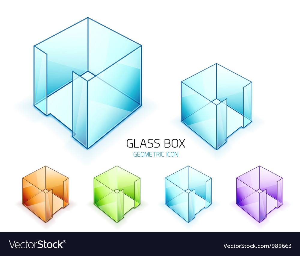 Glass note paper containers icon set vector | Price: 1 Credit (USD $1)