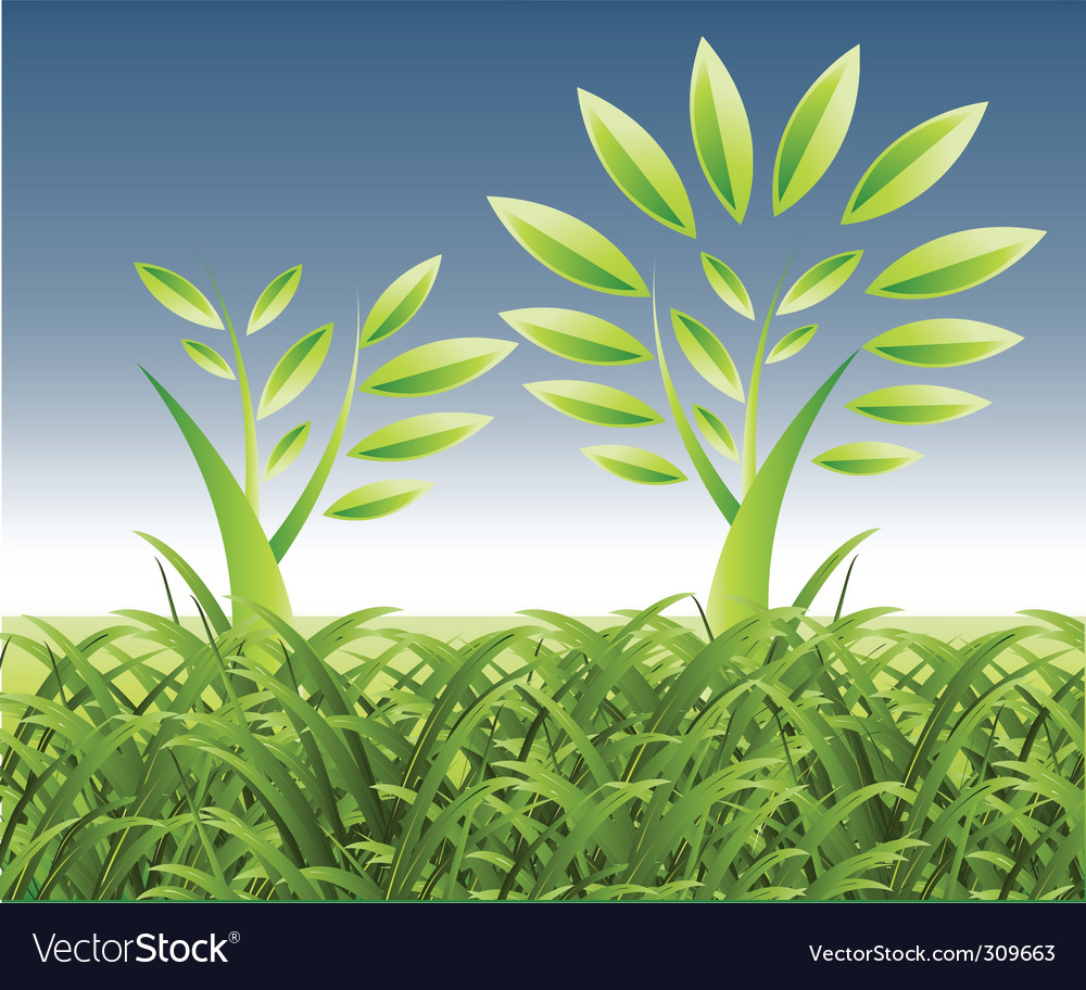 Landscape growth vector | Price: 1 Credit (USD $1)