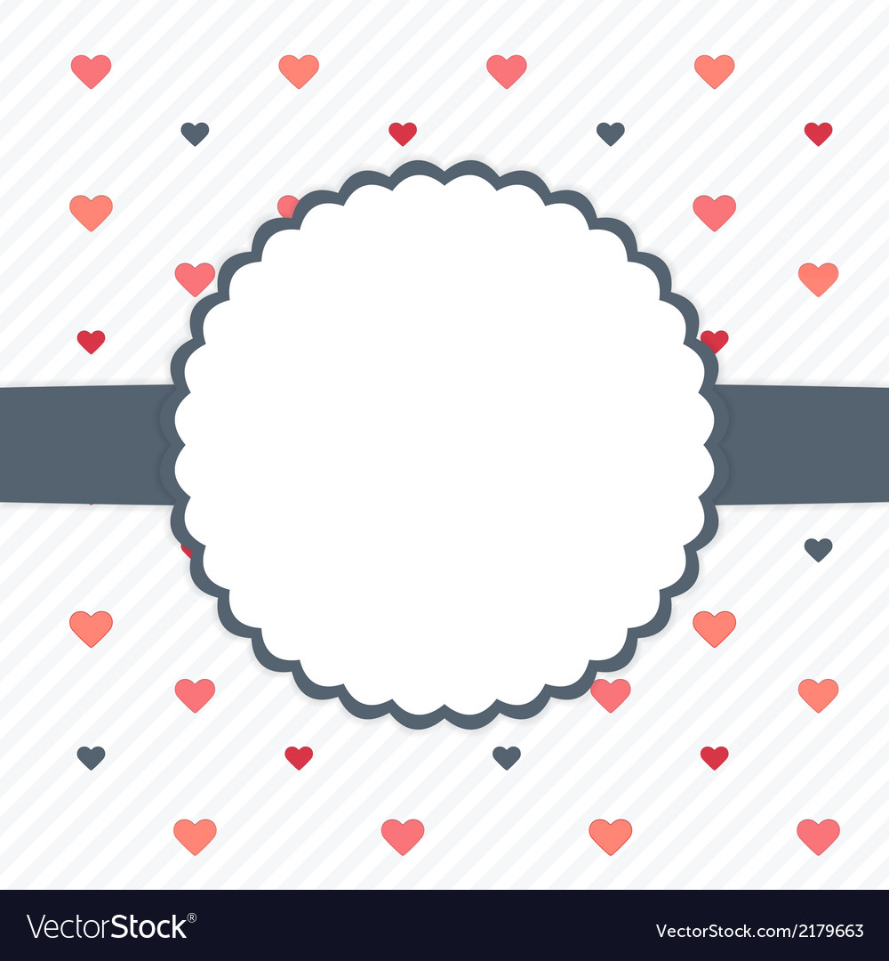 White and blue template card with hearts vector | Price: 1 Credit (USD $1)