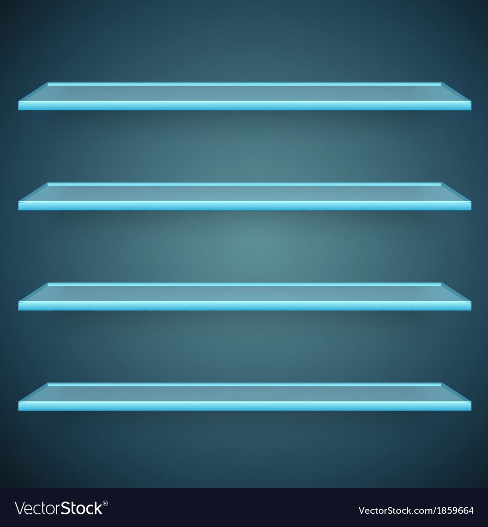 Aqua glass shelves vector | Price: 1 Credit (USD $1)