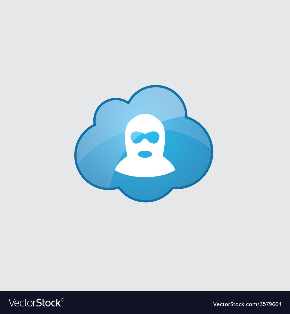 Blue cloud offender icon vector | Price: 1 Credit (USD $1)