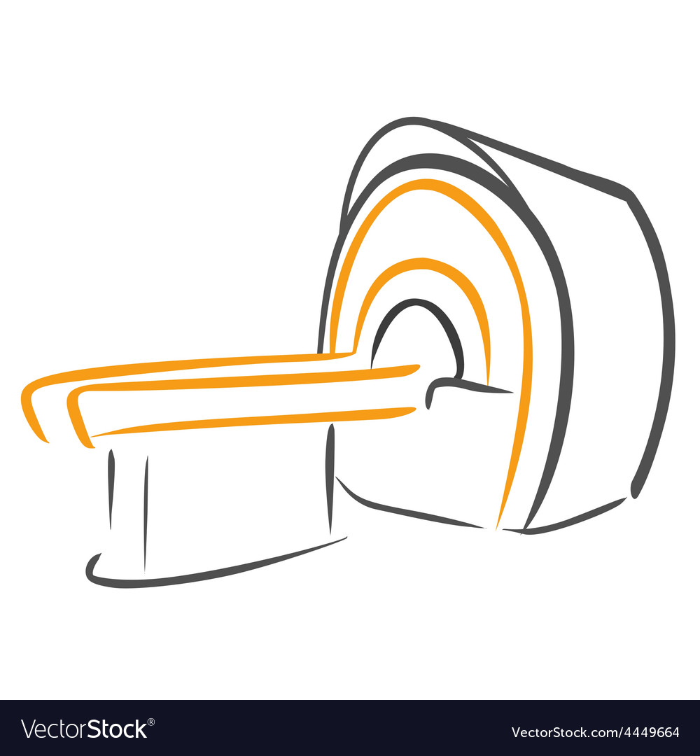 Ct scanner sketch vector | Price: 1 Credit (USD $1)