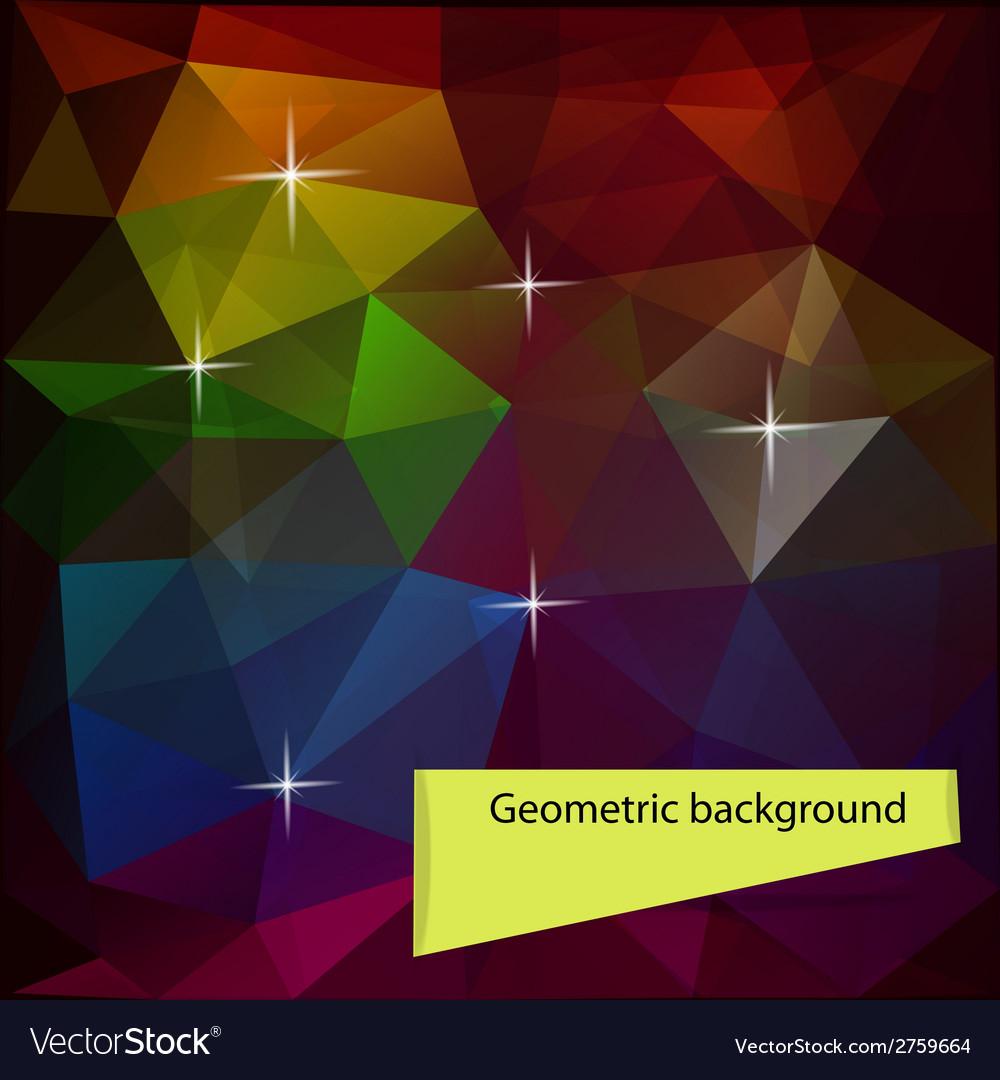 Dark colored polygon geometric background vector | Price: 1 Credit (USD $1)