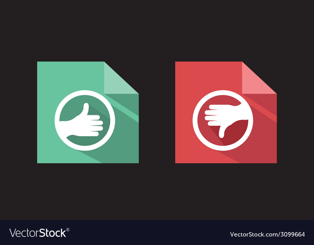 Flat icons like unlike signs vector   Price: 1 Credit (USD $1)