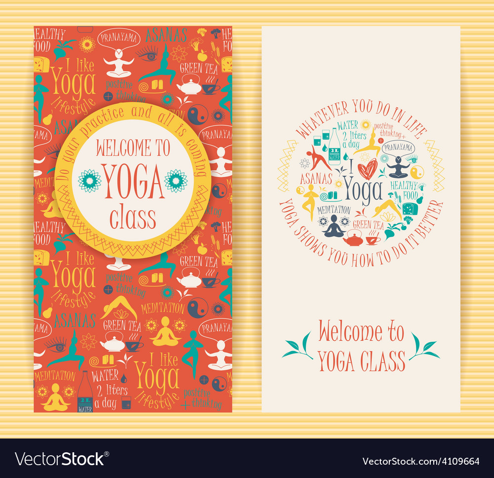 Flyers for yoga class vector | Price: 1 Credit (USD $1)