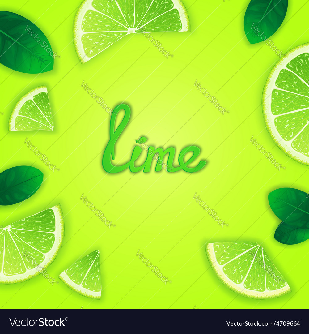 Fruity lime background vector | Price: 1 Credit (USD $1)