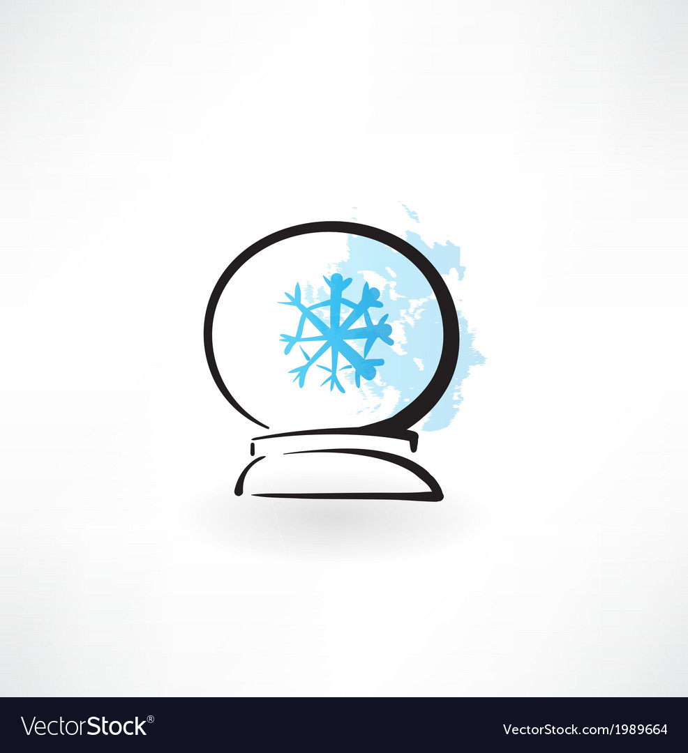 Glass orb grunge icon vector | Price: 1 Credit (USD $1)