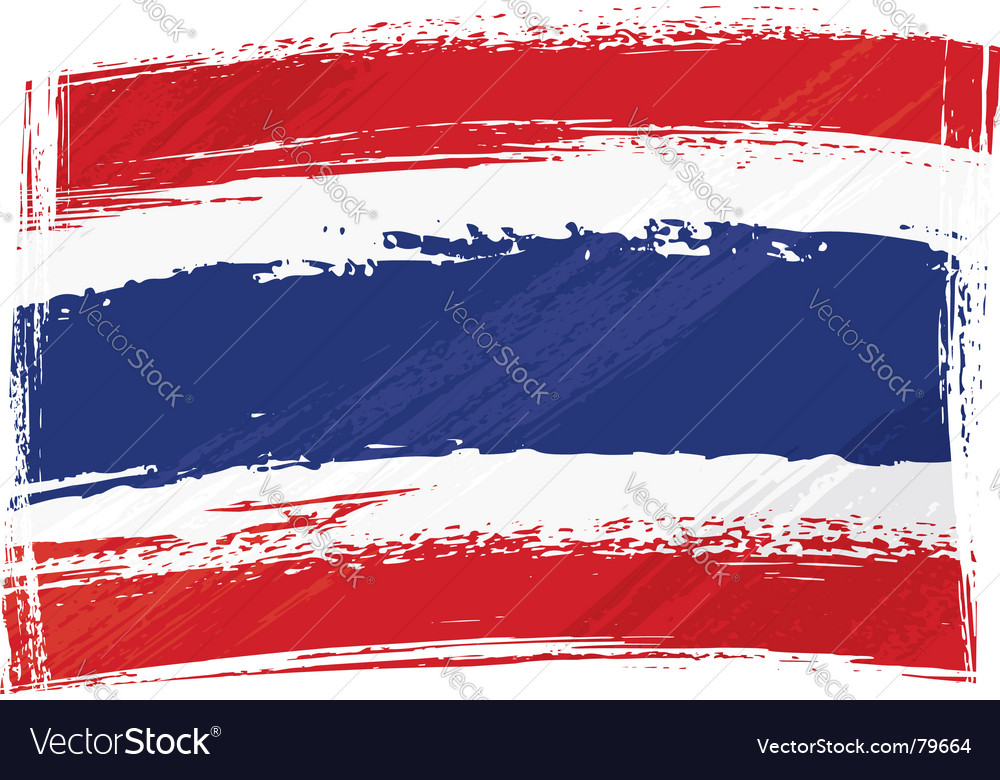 Grunge thailand flag vector | Price: 1 Credit (USD $1)