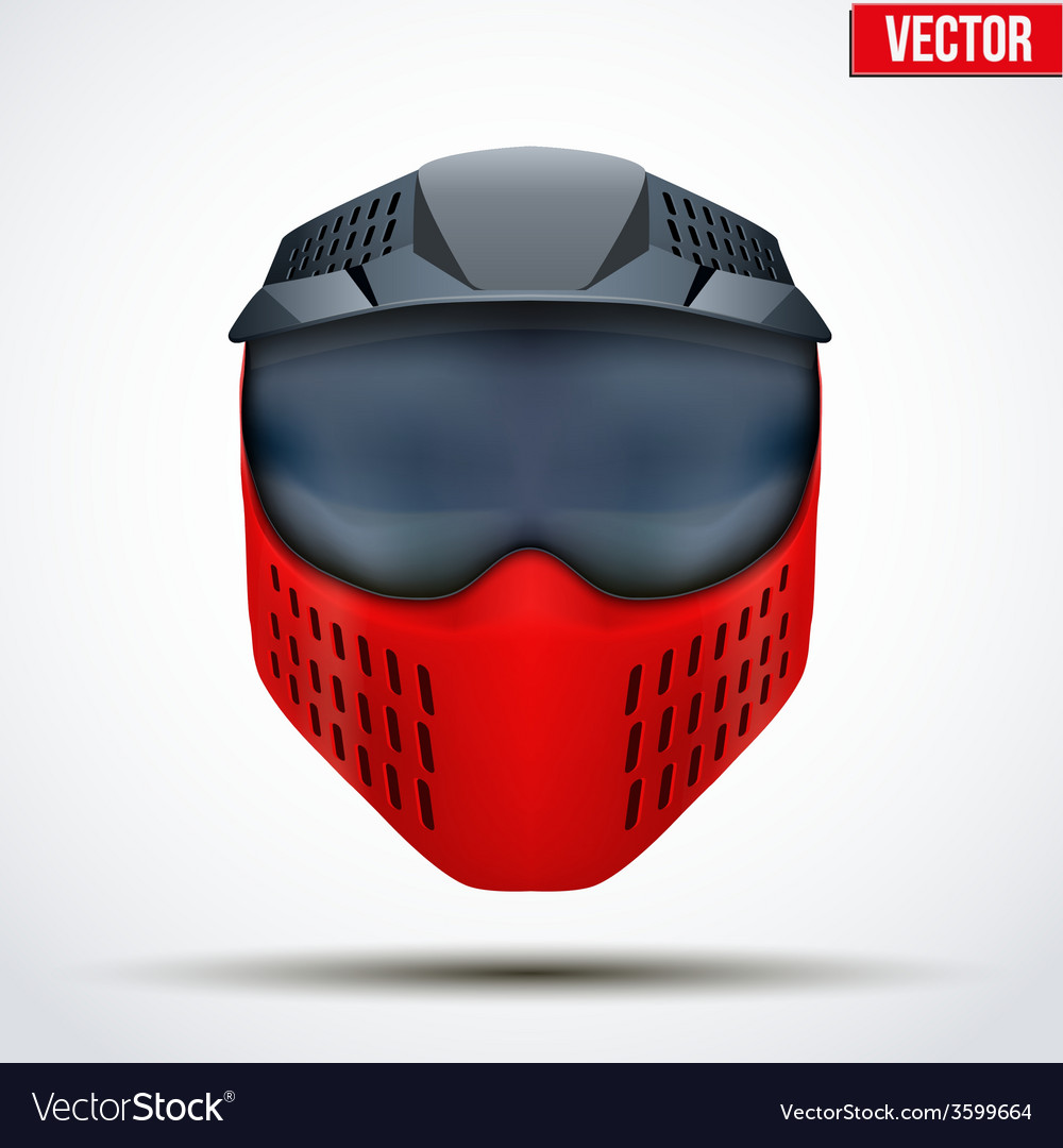 Paintball mask with goggles original design vector | Price: 1 Credit (USD $1)