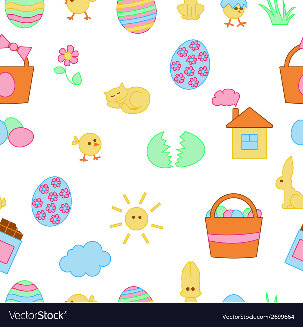 Seamless cartoon easter texture vector | Price: 1 Credit (USD $1)