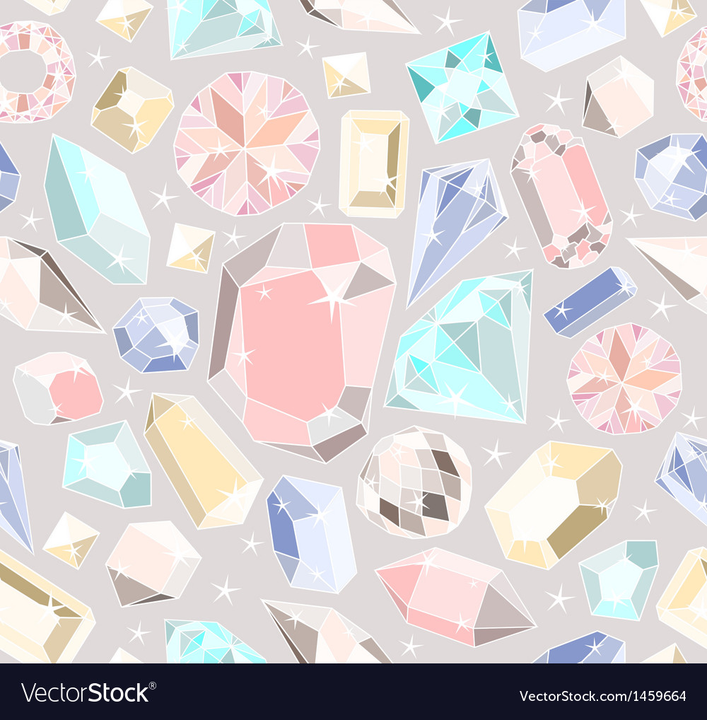 Seamless pastel diamonds pattern vector | Price: 1 Credit (USD $1)