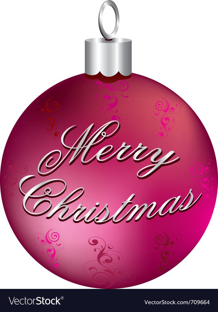 Silver merry christmas vector