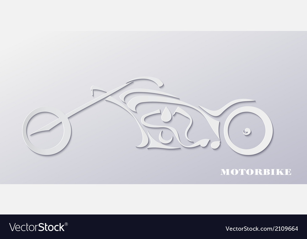 Stylish silhouette of a motorcycle vector | Price: 1 Credit (USD $1)