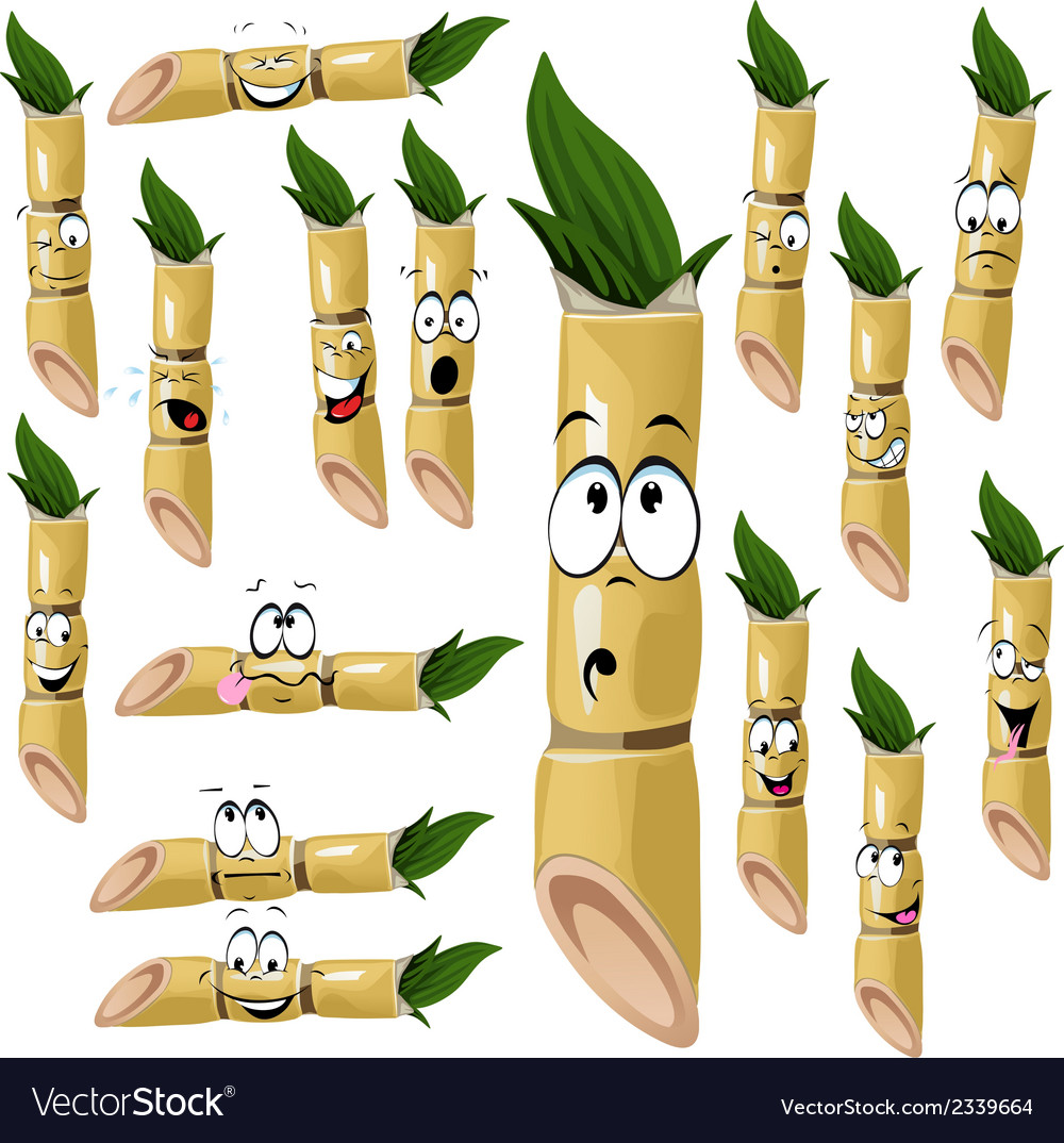 Sugarcane cartoon vector | Price: 1 Credit (USD $1)