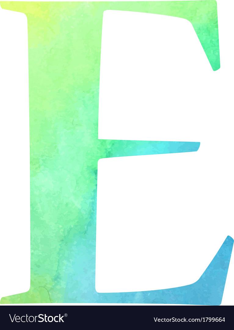 Watercolor blue-green colored alphabet vector | Price: 1 Credit (USD $1)