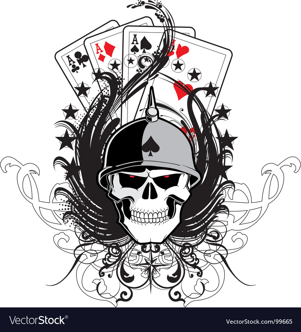 Ace skull vector | Price: 1 Credit (USD $1)