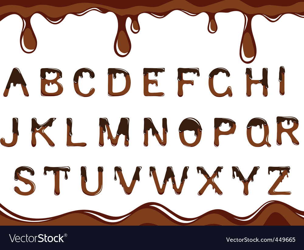 Chocolate alphabet vector | Price: 1 Credit (USD $1)